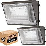 Lightdot 2 Pack 120W LED Wall Pack Lights with Photocell, 13200 LM (700W HPS/HID Equivalent), Daylight 5000K, IP65, Bright Ou
