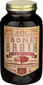 EPIC Bison Apple Cider Bone Broth, 14fl oz jar