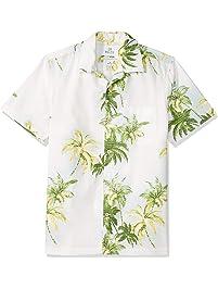 28 Palms Amazon Brand Men's Trim Fit 100% Cotton Tropical Hawaiian Shirt - Extended Sizes