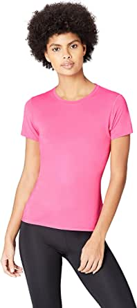 Activewear Women's Sports Top with Cap Sleeve and Mesh Back