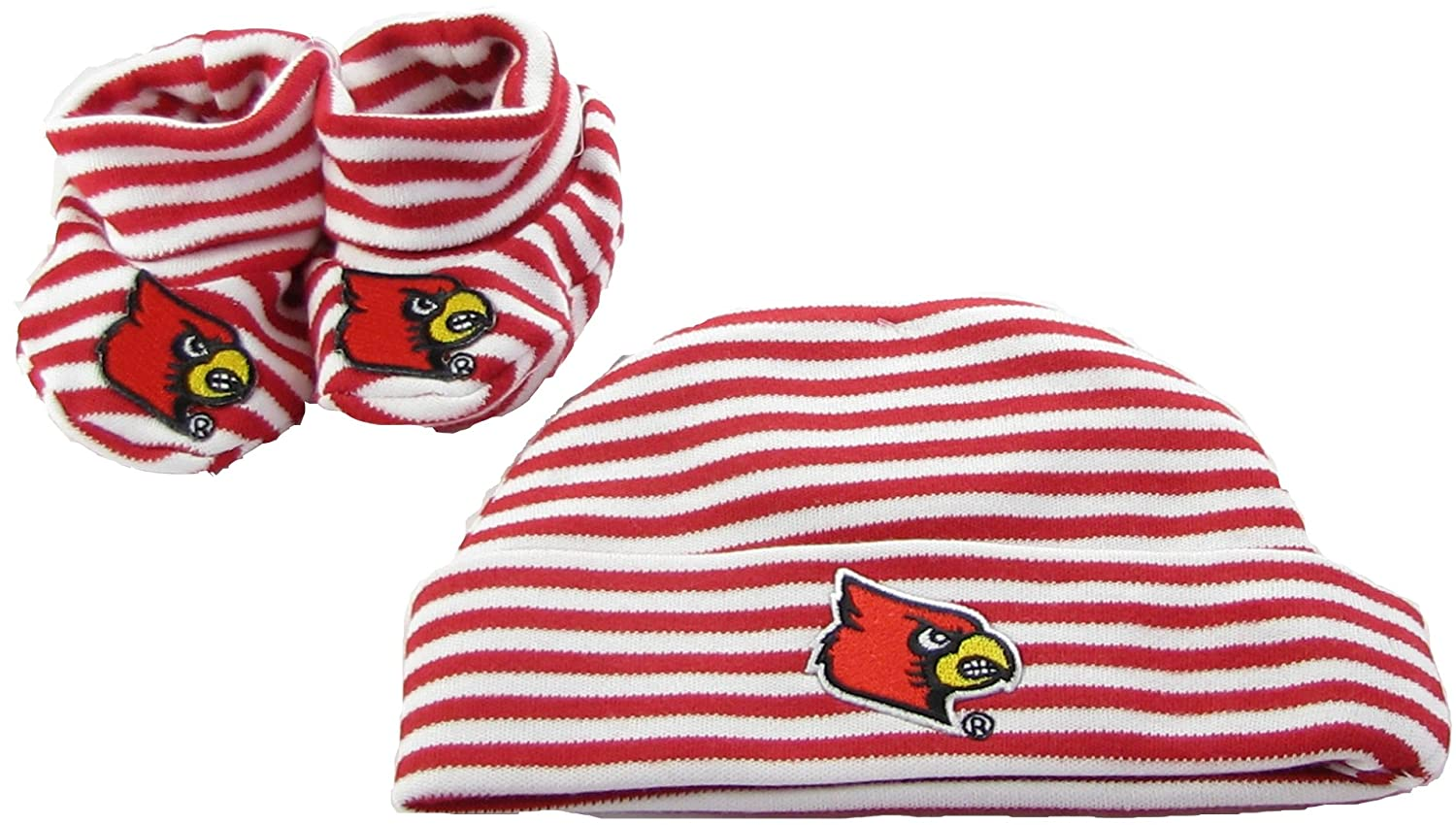 168cbb3b3 Amazon.com: Louisville Cardinals Red Striped Infant Newborn Hat ...