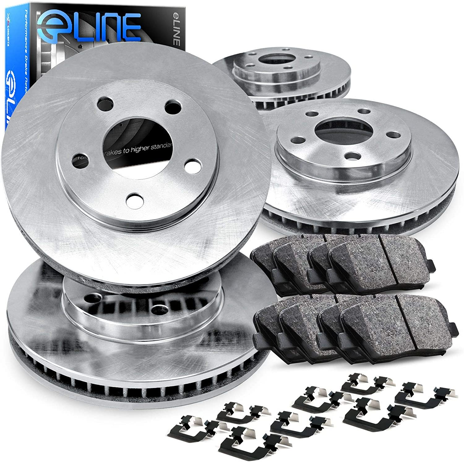 Rear Rotors 6lug 2 Black Coated Cross-Drilled Disc Brake Rotors High-End Fits:- GX470 4Runner FJ Cruiser Sequoia