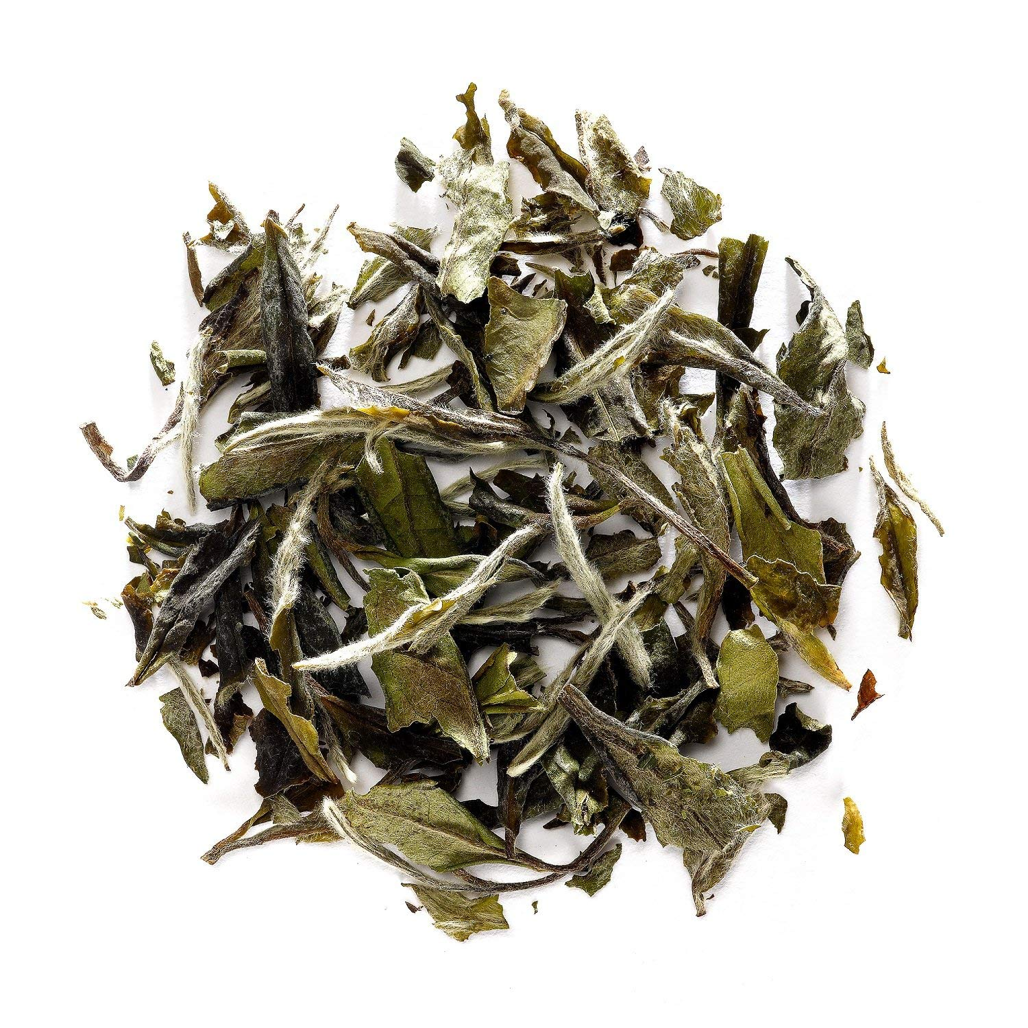 White Peony White Tea - Bai Mu Dan Chinese White Tea - Pai Mu Tan Loose Leaf Tea From China 50g 1.76 Ounce