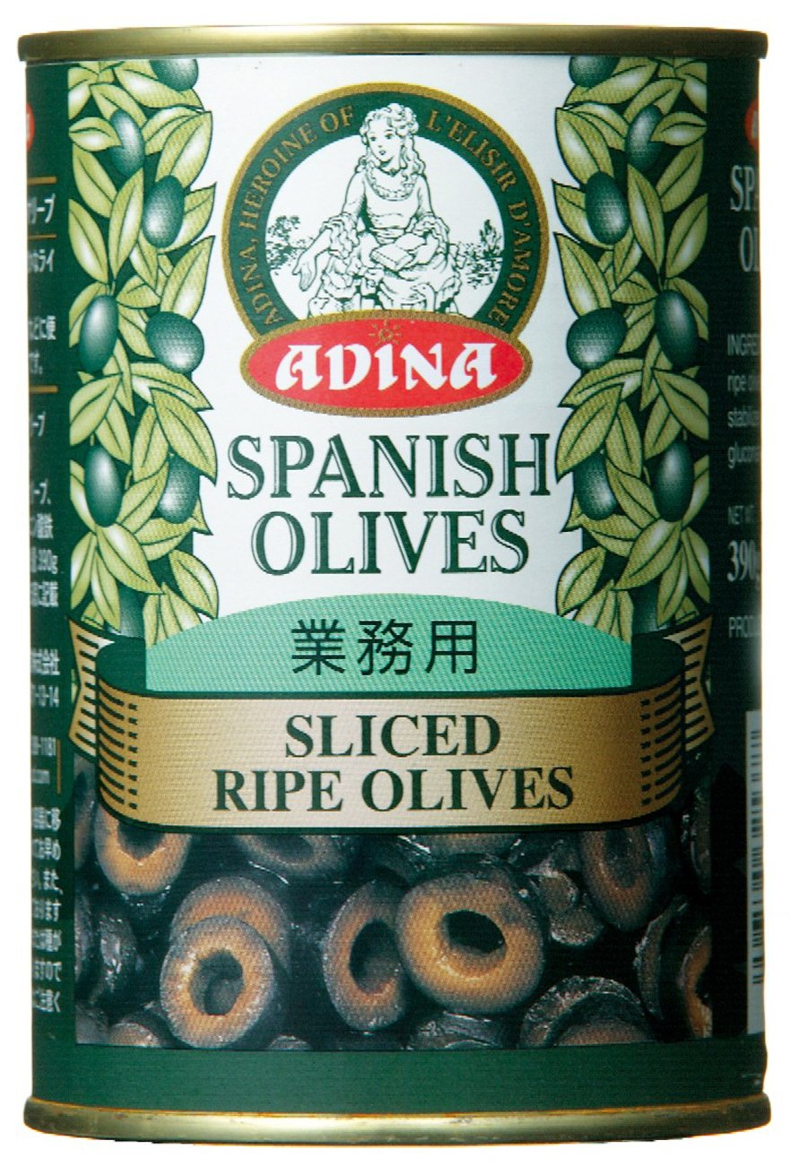 Adina slice ripe olives No. 4 cans 390gX2 this