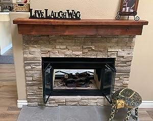 Floating Barn Wood Fireplace Mantel (6x8x60)