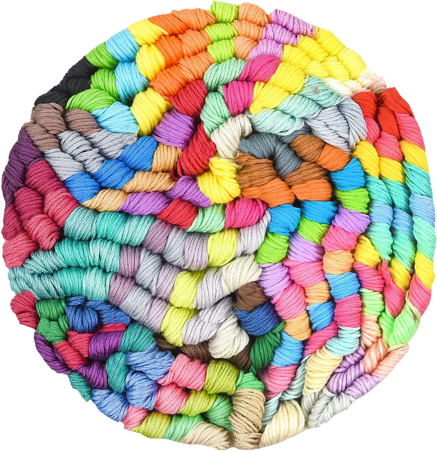 Sifang Rainbow Embroidery Skeins,Premium Multi Cross Stitch Threads 150 Color Crafts Floss Friendship Bracelet String