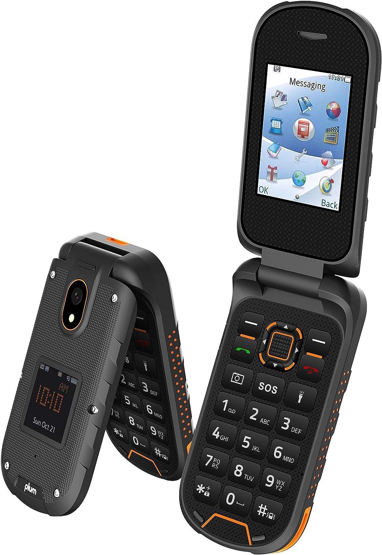 Plum Ram 8 - 3G Rugged Flip Phone GSM Unlocked Water Shock Proof IP68 Military Grade, Orange
