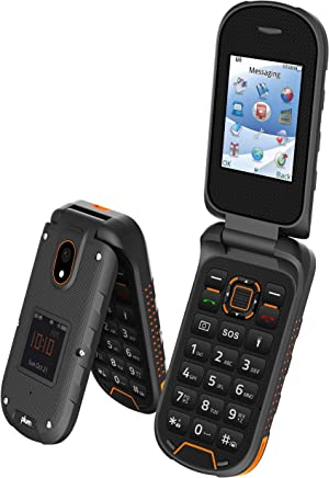 Rugged Flip Phone 4G GSM Unlocked Water Proof Shock Proof IP68 Military Grade ATT Tmobile Cricket Metro Straight Talk - ORG