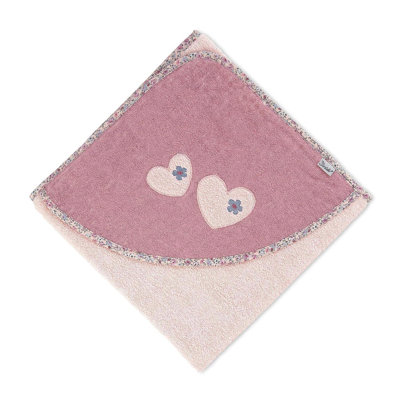 100 x 100 cm Sterntaler Kapuzenbadetuch Maus Mabel Zartrosa Alter: ab 0 Monate