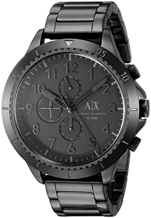 Image Unavailable. Image not available for. Color  Armani Exchange Men s  AX1751 Black Watch 29a10992ad