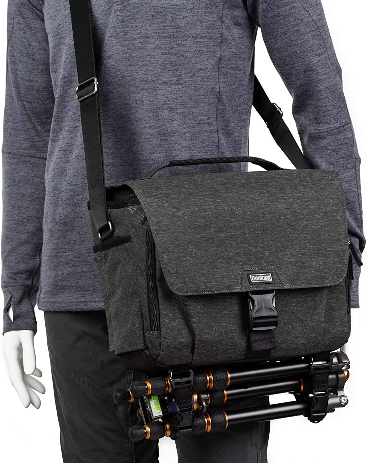 Think Tank Photo Vision 10 Camera Shoulder Messenger Bag for DSLR and Mirrorless Camera Systems (Graphite) 810kykgezgL