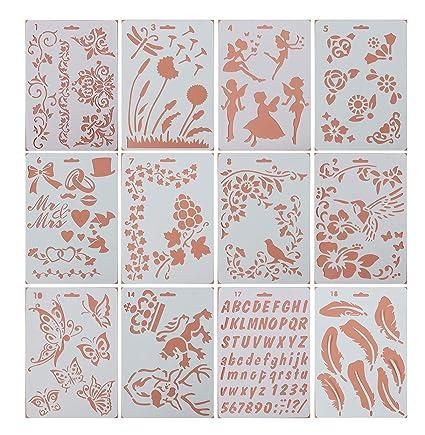 Amazon Com Pulaisen Journal Stencils Plastic Planner Templates With