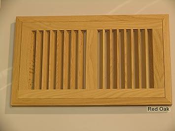 6 X 14 Hi Output Red Oak Flush Unfinished Wood Heat Register Vent Floor Heating Registers Amazon Com