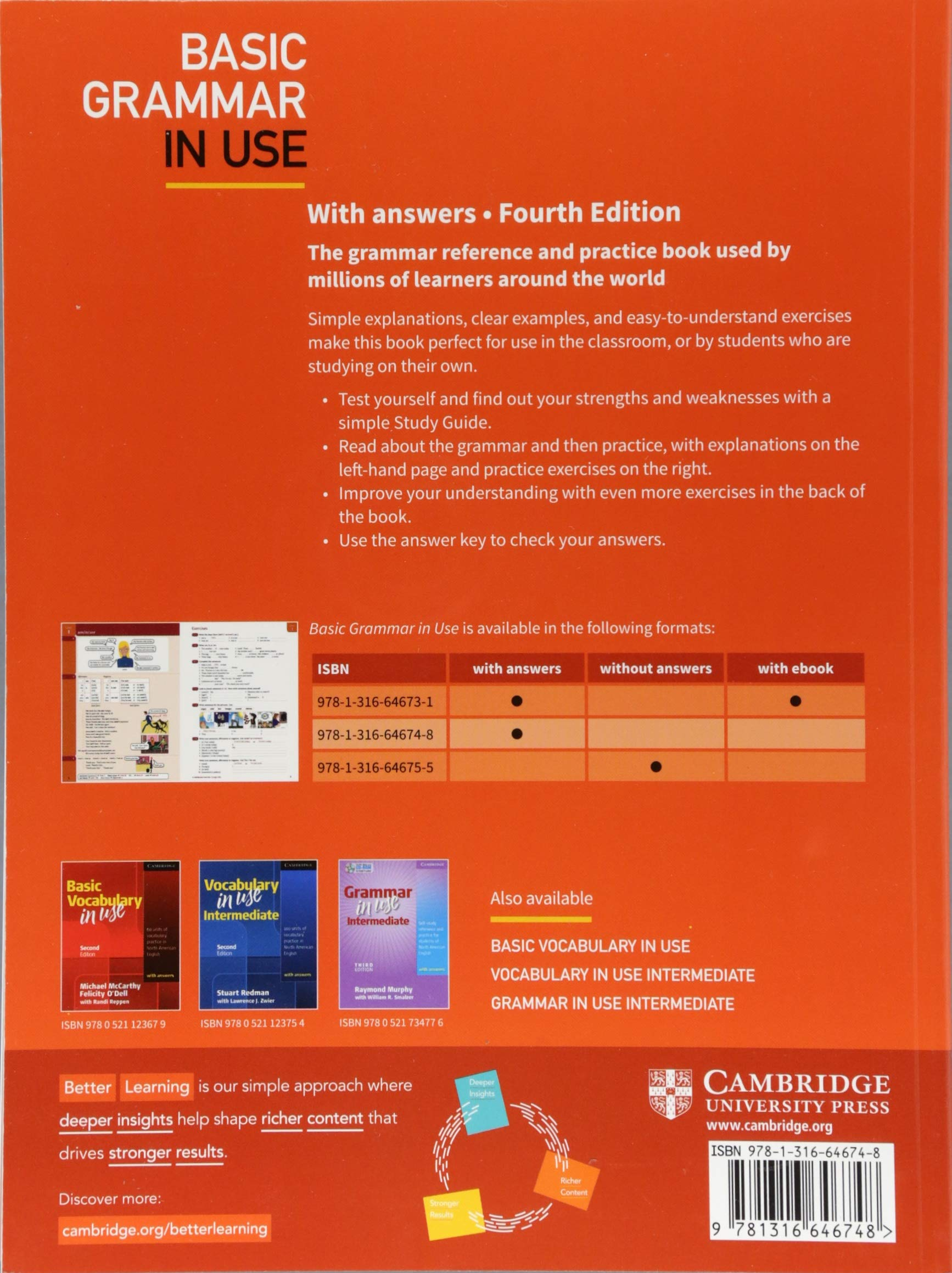 Basic Grammar in Use Students Book with Answers Fourth Edition ...