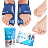 Sports Laboratory Bunion Correctors Day & Night Kit, 2X Bunion Splints and 2X Big Toe Gel Straighteners, Free Bunion…