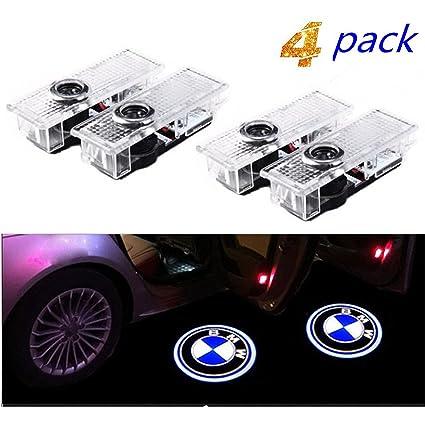 4 PCS Luz de Puerta de Coche 3D Logo Proyector L/áser LED Luces Kit