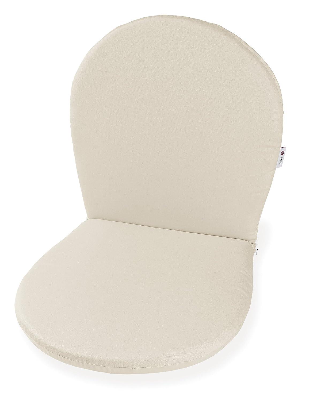 Emu 30116007004 Ronda Sitz und Ruecken Kissen für Stuhl und Armlehnstuhl C/116, 2-er Set, ecru