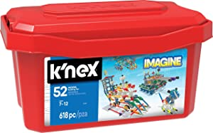 K'NEX – 52 Model Building Set – 618 Pieces – Ages 7+ Engineering Education Toy (Amazon Exclusive)