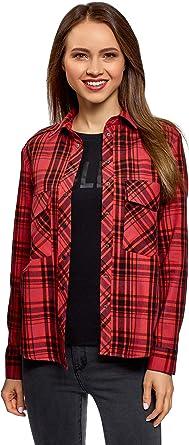 oodji Ultra Mujer Camisa a Cuadros con Bolsillos: Amazon.es: Ropa y accesorios