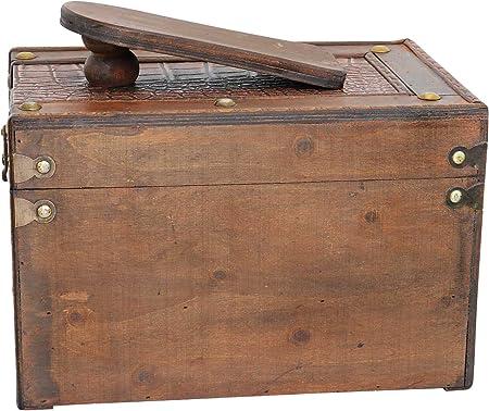 Caja para Limpieza del Zapatos Estilo Antiguo: Amazon.es: Hogar