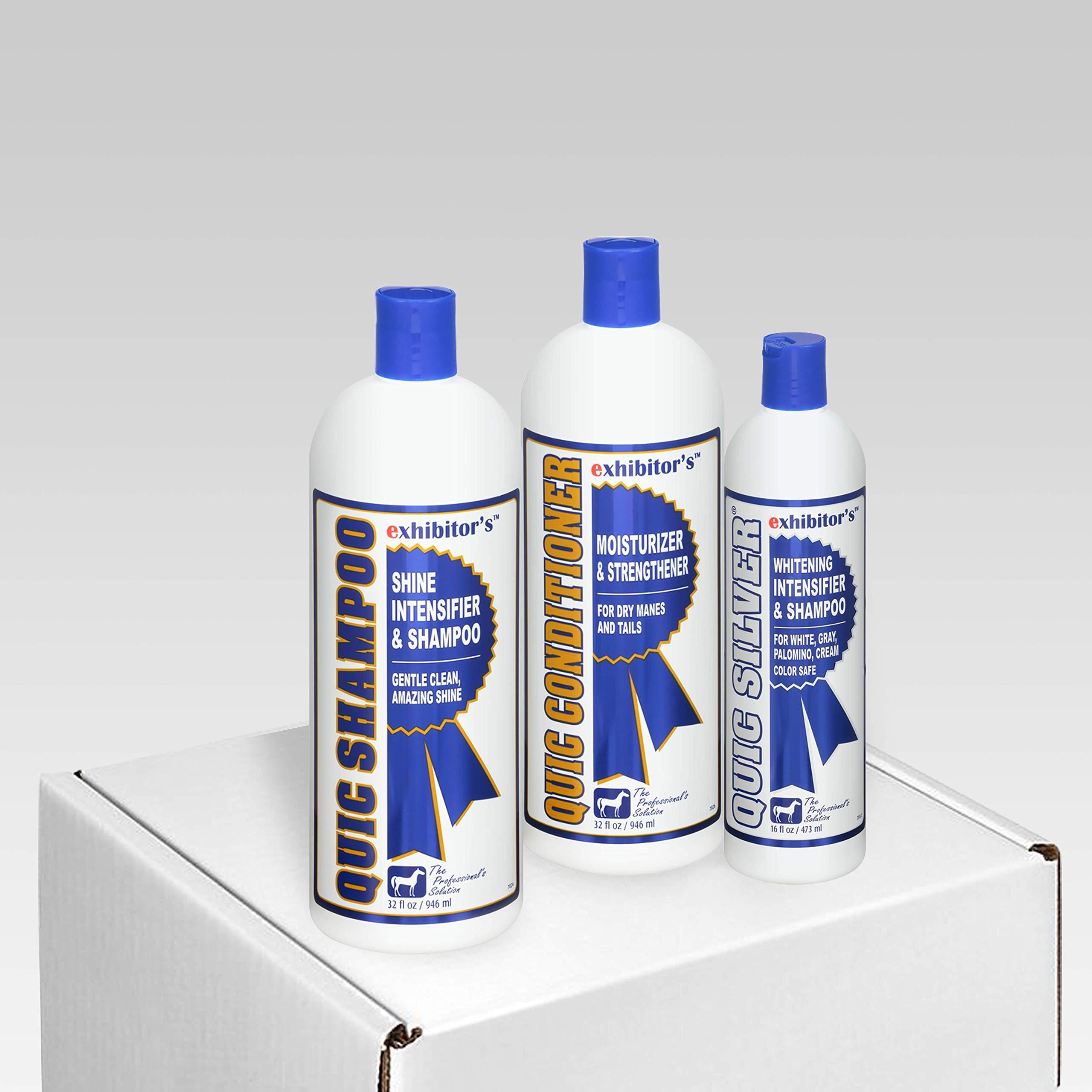 exhibitor's Quic Shampoo Quic Conditioner Plus Color Intensifiers (Quic Silver Set)