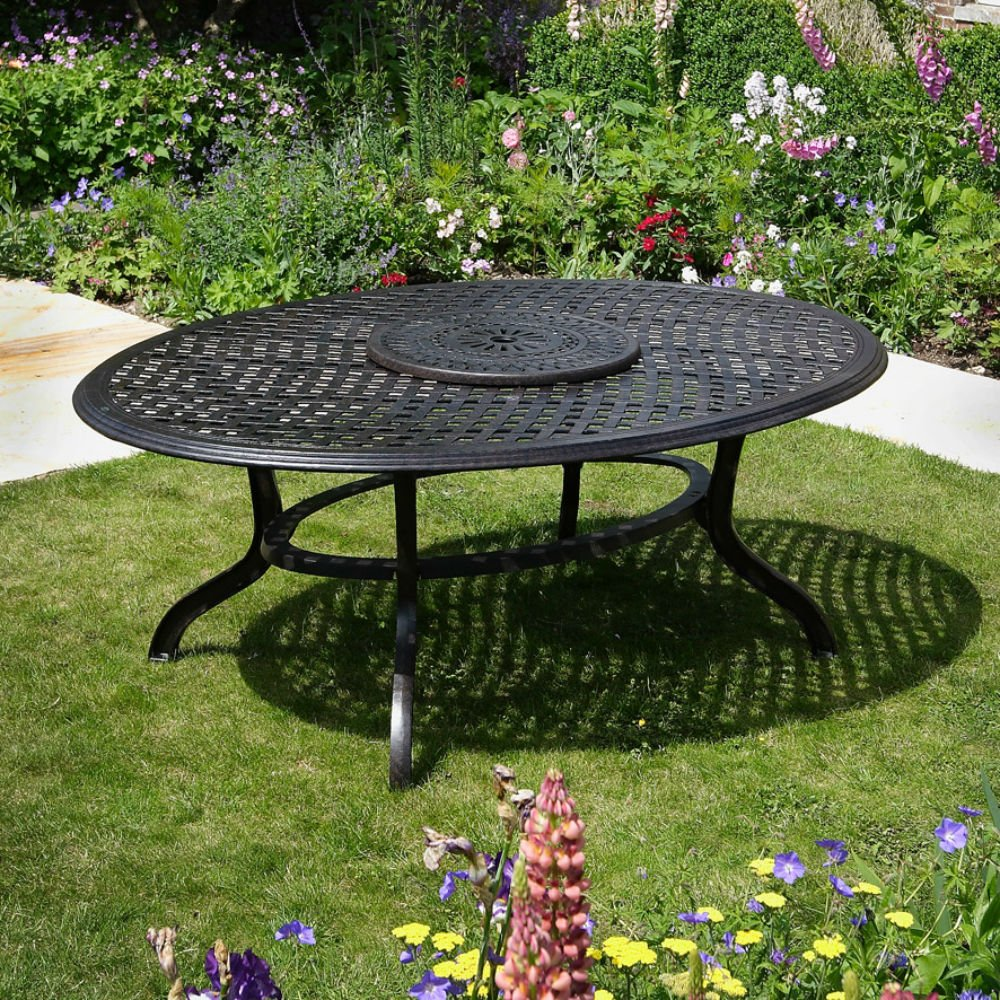 Summer 195 X 145cm Ovales Gartenmöbelset   1 SUMMER Tisch + 8 JANE Stühle
