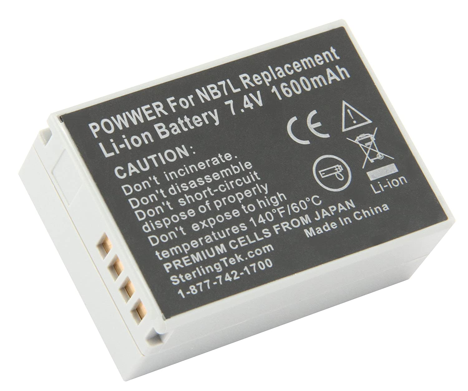 Stks Canon Nb 7l Battery Pack 1600mah For Cell Phone Charger Circuit Powershot Sx30 Is G12 Sx30is G11 G10 Cannon Cb 2lz Nb7l Digital Camera Batteries