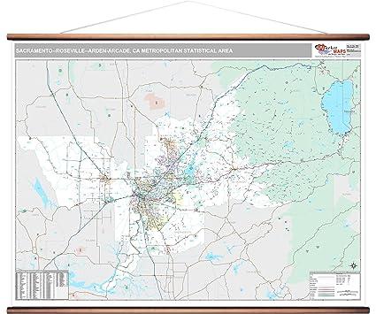 Zip Code Map Sacramento Ca.Amazon Com Marketmaps Sacramento Roseville Arden Arcade Ca Metro