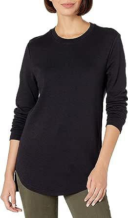 Daily Ritual Amazon Brand Women's Cotton Modal Stretch Slub 3/4-Sleeve Tunic