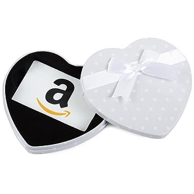 Amazon.com Gift Card in a White Heart Tin (Classic White Card Design)