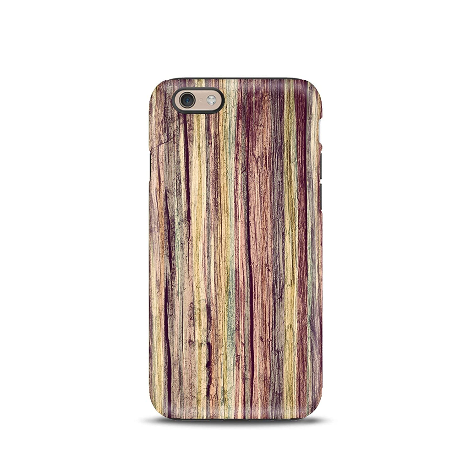 Legno Pastello cover case custodia per iPhone 5, 5s, 6, 6s, 7, 7 plus, 8, 8 plus, X, XS, per Galaxy S6, S7, S8