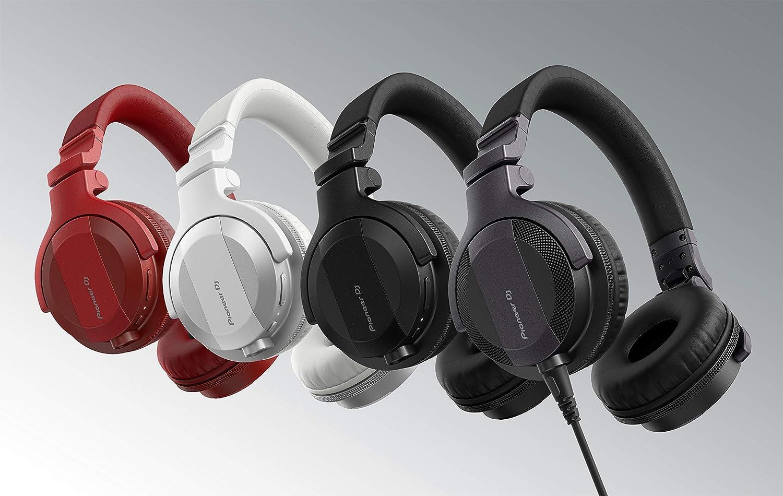 Red Pioneer DJ DJ Headphones HDJ-CUE1BT-R