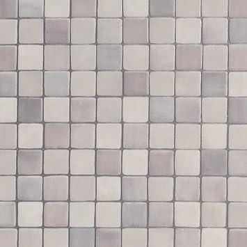 Sehr PVC Bodenbelag Steinoptik | Fliesenoptik Mosaik grau | 200, 300 HJ63