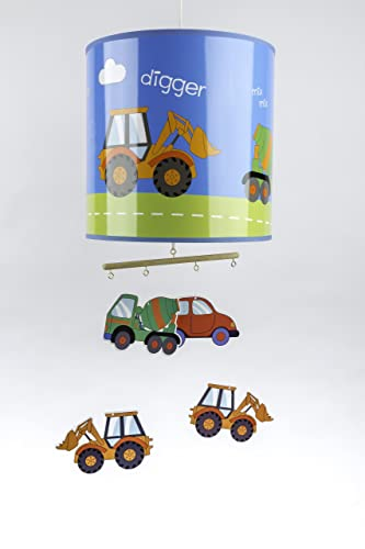 Childrens cars lampshade with revolving mobiles amazon lighting childrens cars lampshade with revolving mobiles aloadofball Choice Image