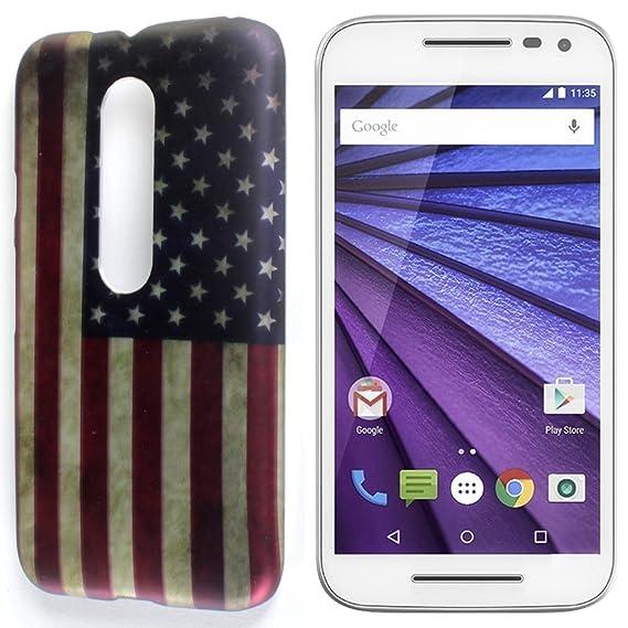 meet 9fce5 d5373 Moto G 3rd Gen Hard Case, CoverON Slim Non-Slip Art Design Cover [Slender  Fit Series] Phone Case for Motorola Moto G 3rd Generation 2015 - American  ...