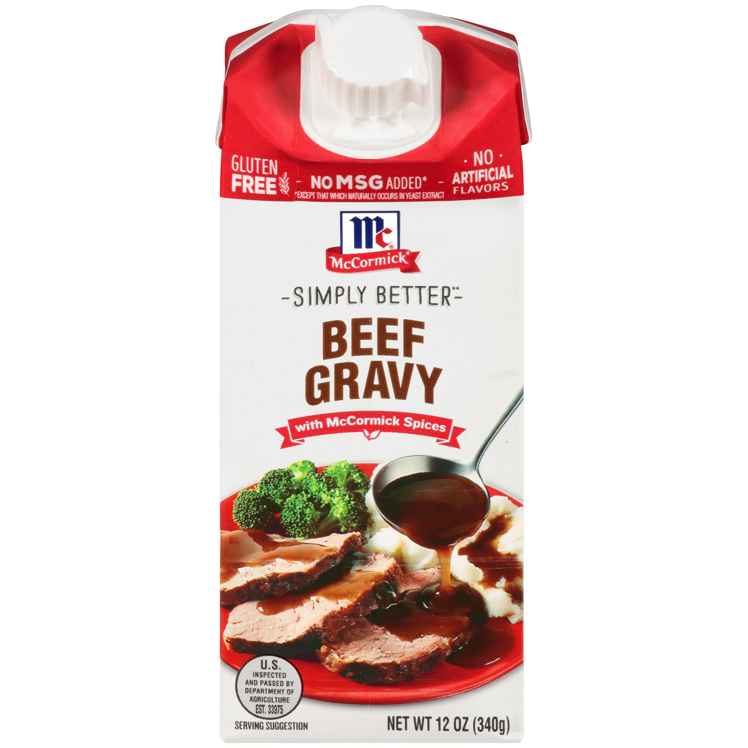 McCormick Beef Wet Gravy, 12 OZ (Pack of 4) by McCormick Spices