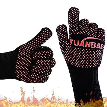 Barbacoa Grill guantes resistente al calor guantes para horno resistente al calor hasta 662 °F