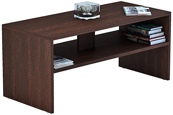 Bluewud Oliver Coffee Table with Shelves (Wenge)