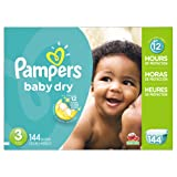 Amazon Price History for:Pampers Baby Dry Diapers Size 3, 144 Count