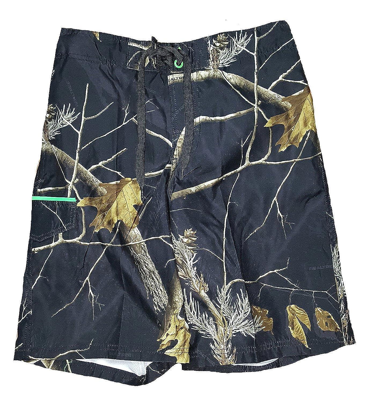 Realtree Black Camo Eboard Swim Short Trunks