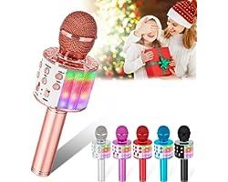 Verkstar Karaoke Bluetooth Microphone,Upgrade Wireless Handheld Karaoke Mic for Kids Adults Portable Singing Speaker Machine