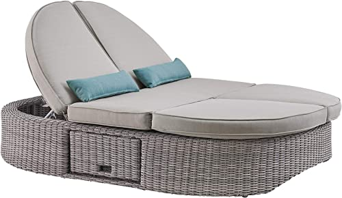 Ove Decors Sandra Outdoor Daybed, Light Grey