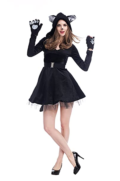 xiemushop- Disfraz de Gato para Mujer Vestido Cosplay Catsuit Halloween  Carnaval  Amazon.es  Ropa y accesorios e499e5fe8f7
