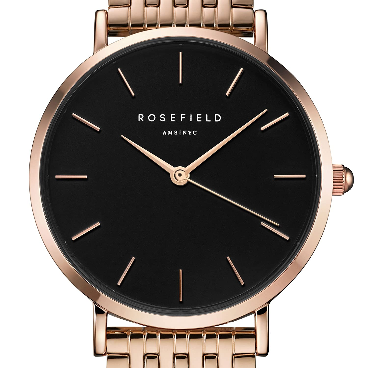 Rosefield The Upper East Side Cuarzo - Reloj (Reloj de Pulsera, Femenino, Rose Gold, Acero Inoxidable, Rose Gold, Alrededor): Amazon.es: Relojes