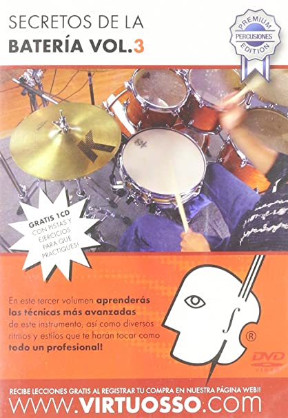 Amazon.com: Virtuosso Drum Method Vol.3 (Curso De Batería Vol.3) SPANISH ONLY: Musical Instruments