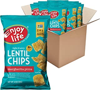 product image for Enjoy Life Margherita Pizza Lentil Chips, Dairy Free Chips, Soy Free, Nut Free, Non GMO, Vegan, Gluten Free, 12 - 4 oz Bags