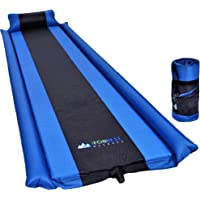IFORREST Sleeping Pad with Armrest & Pillow - Self inflating Sleeping Pad is Ideal for Camping Hiking Backpacking - Camping Pad - Never let your Arms & Foot feel the Ground - Inflatable Air Mat