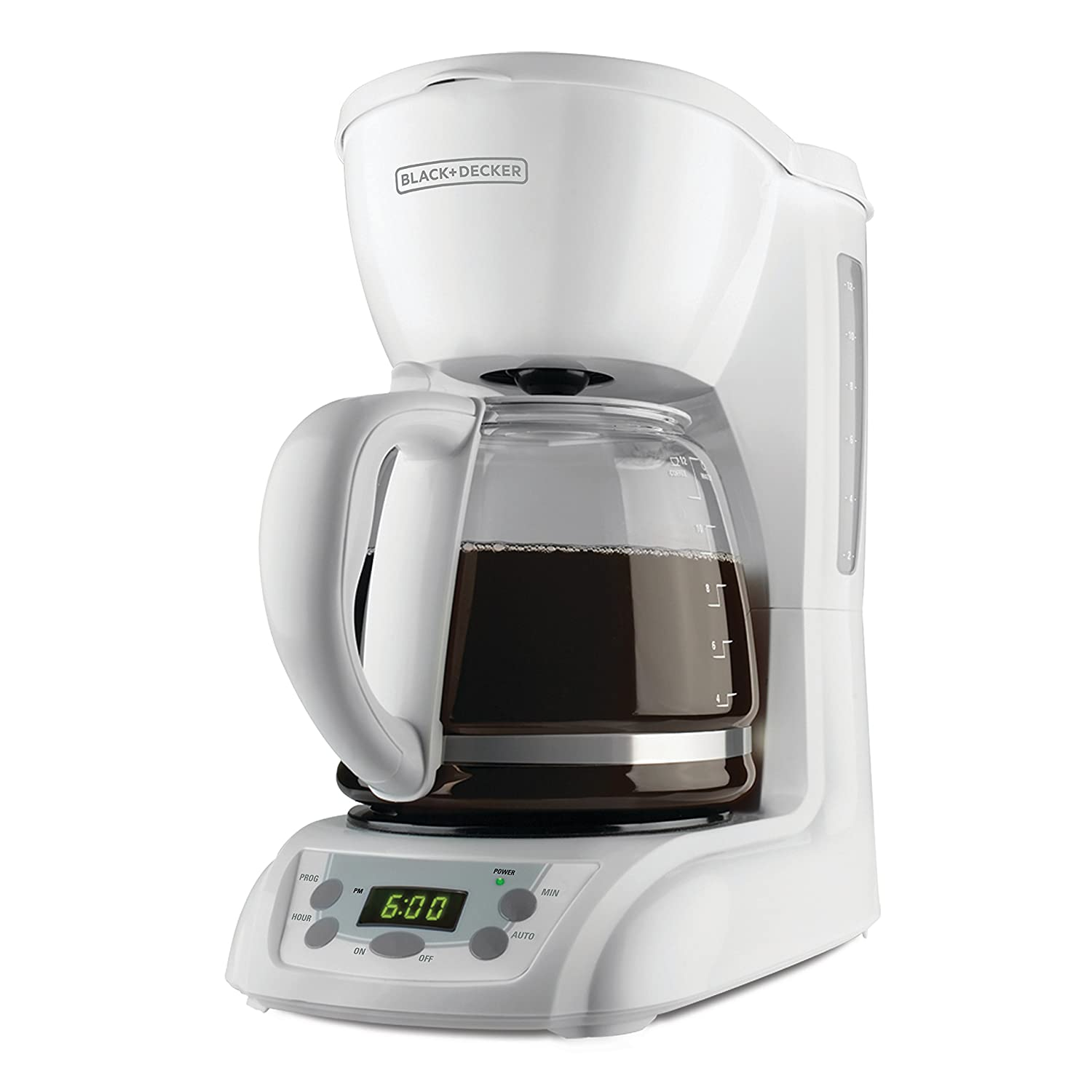 Black and decker coffee maker 12 cup programmable - Amazon Com Black Decker 12 Cup Programmable Coffeemaker With Glass Carafe White Dlx1050w Drip Coffeemakers Kitchen Dining