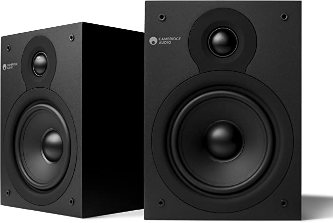 Cambridge Audio SX-50 Altavoces DE Estante (Negro Mate)
