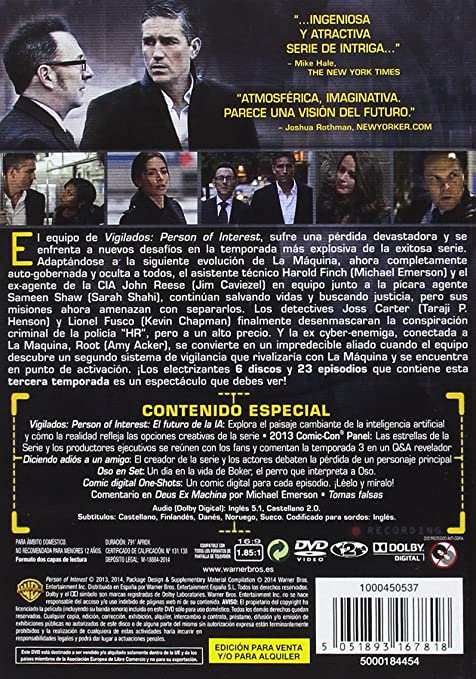 Vigilados Person Of Interest Temporada 1-5 Colección Completa DVD: Amazon.es: James Caviezel, Michael Emerson, Kevin Chapman, Taraji P. Henson, ...